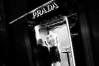 PALERMO, ITALY - 15 DECEMBER 2012: Inauguration of the Prada store in Palermo, Italy, on Dember 15th 2012.