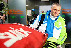 Marko Gracer at reception of Slovenia team arrived from Winter Olympic Games Sochi 2014 on February 24, 2014 at Airport Joze Pucnik, Brnik, Slovenia. Photo by Vid Ponikvar / Sportida