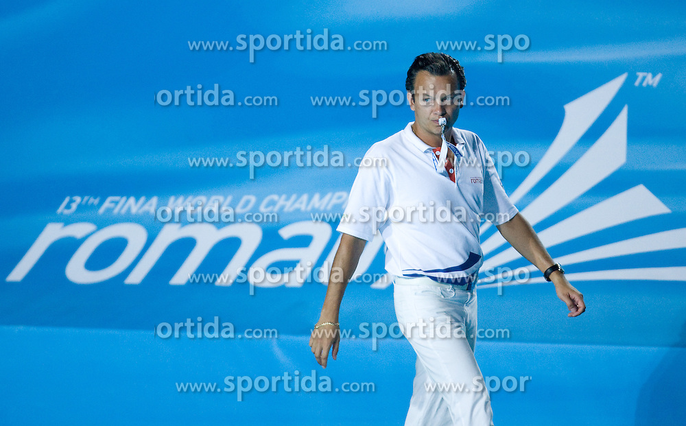 Referee Boris Margeta of Slovenia during the Men's  Waterpolo Final match between National teams of Serbia and Spain during the 13th FINA World Championships Roma 2009, on August 1, 2009, at the Stadio del Nuoto,  in Foro Italico, Rome, Italy. Serbia won after penalties shootout 14:13.  (Photo by Vid Ponikvar / Sportida)