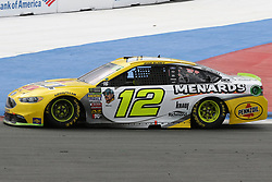 September 30, 2018 - Charlotte, NC, U.S. - CHARLOTTE, NC - SEPTEMBER 30:  #12: Ryan Blaney, Team Penske, Ford Fusion Menards/Pennzoil during the Monster Energy NASCAR Cup Series Playoff Race Bank of America ROVAL 400 on September 30, 2018, at Charlotte Motor Speedway in Concord, NC. (Photo by Jaylynn Nash/Icon Sportswire) (Credit Image: © Jaylynn Nash/Icon SMI via ZUMA Press)