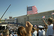 A 11.6 MG IMAGE OF:.Arlington, VA 9/11/02 Pentagon September 11th Ceremony. Photo by Dennis Brack