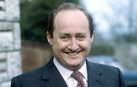 Christopher Tugendhat, vice president, Commission of the European Communities, Brussels, Belgium, former UK Conservative Party MP, former journalist, Financial Times, London, survived Provisional IRA gun attack December 1980. 19840021CT1.<br /> <br /> Copyright Image from Victor Patterson, 54 Dorchester Park, Belfast, UK, BT9 6RJ<br /> <br /> t1: +44 28 9066 1296 (from Rep of Ireland 048 9066 1296)<br /> t2: +44 28 9002 2446 (from Rep of Ireland 048 9002 2446)<br /> m: +44 7802 353836<br /> <br /> victorpatterson@me.com<br /> www.victorpatterson.com<br /> <br /> Please see my Terms and Conditions of Use at victorpatterson.com . It is IMPORTANT that you familiarise yourself with them.<br /> <br /> Images used on the Internet incur an additional cost and must be visibly watermarked i.e. ©Victor Patterson within the body of the image and copyright metadata must not be deleted. Images used on the Internet have a size restriction of 4kbs and are chargeable at rates available at victorpatterson.com.<br /> <br /> This image is only available for the use of the download recipient i.e. television station, newspaper, magazine, book publisher, etc, and must not be passed on to any third party. It is also downloaded on condition that each and every usage is notified within 7 days to victorpatterson@me.com<br /> <br /> The right of Victor Patterson to be identified as the author is asserted in accordance with The Copyright Designs And Patents Act (1988). All moral rights are asserted.