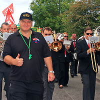 Bob Crow in Tolpuddle<br /> 20th July 2008<br /> <br /> Photograph by Roslyn Gaunt/Writer Pictures<br /> <br /> WORLD RIGHTS
