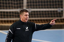 Sebastjan Oblak, head coach of ZRK Z Dezele during handball match between RK Ljubljana and ZRK Z Dezele in Bronze Medal game of Slovenian Women Handball Cup 2017/18, on April 1, 2018 in Park Kodeljevo, Ljubljana, Slovenia. Photo by Matic Klansek Velej / Sportida