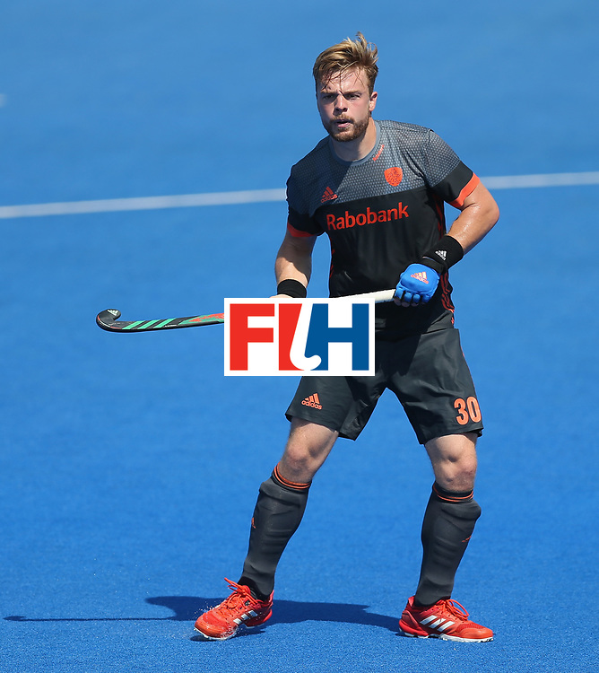 LONDON, ENGLAND - JUNE 20: Mink van der Weerden of the Netherlands during the Pool B match between India and the Netherlands on day six of the Hero Hockey World League Semi-Final at Lee Valley Hockey and Tennis Centre on June 20, 2017 in London, England.  (Photo by Alex Morton/Getty Images)