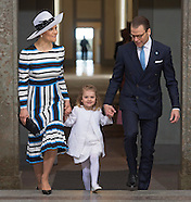 Royals Attend Te Deum Service For King Gustaf 2