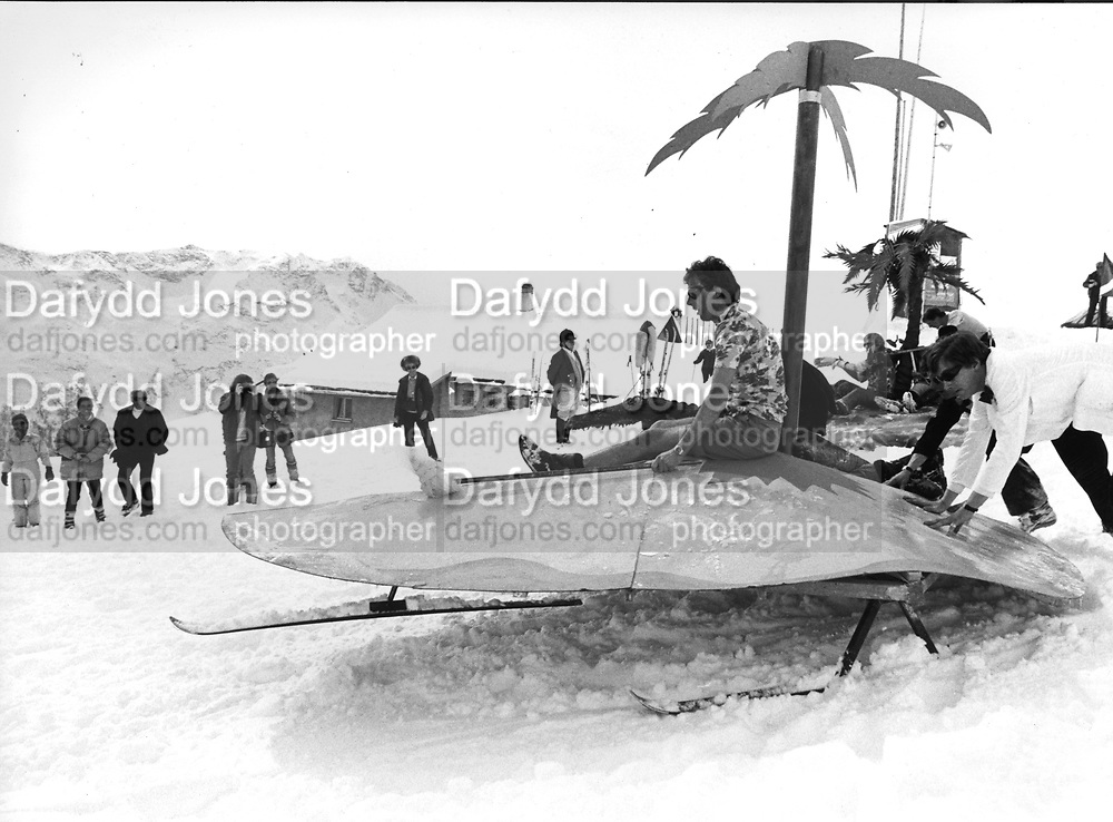 Dangerous Sports Club ski race. St. Moritz. 1983.<br />