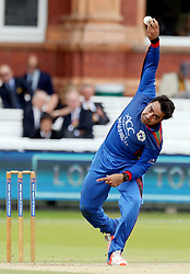 File photo dated 11-07-2017 of Afghanistan's Rashid Khan bowls during the one day match at Lord's, London.