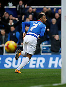 Queens Park Rangers midfielder and top goal scorer Matt Phillips Celebrates his goal during the Sky Bet Championship match between Queens Park Rangers and Ipswich Town at the Loftus Road Stadium, London, England on 6 February 2016. Photo by Andy Walter.