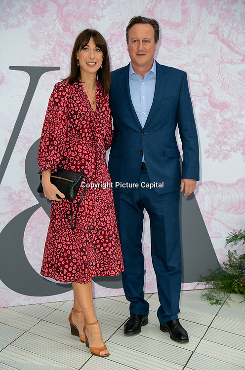 David Cameron and Samantha Cameron arrives at V&A - summer party, on 19 June 2019, London, UK