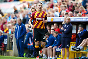 Bradford City defender Anthony McMahon (29)  during the EFL Sky Bet League 1 match between Bradford City and AFC Wimbledon at the Coral Windows Stadium, Bradford, England on 22 April 2017. Photo by Simon Davies.