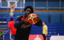 Marvin Dinnall of Bristol Flyers during the warm up - Photo mandatory by-line: Arron Gent/JMP - 28/09/2019 - BASKETBALL - Crystal Palace National Sports Centre - London, England - London City Royals v Bristol Flyers - British Basketball League Cup