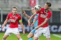 ALKMAAR - 11-12-2016, AZ -  Feyenoord, AFAS Stadion, Feyenoord speler Jens Toornstra, AZ speler Wout Weghorst