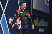 Paul Lim beats Mark Webster in the first round during the William Hill PDC World Darts Championship at Alexandra Palace, London, United Kingdom on 18 December 2017. Photo by Shane Healey.