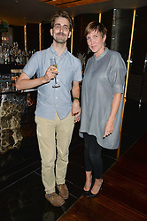 OLLIE STRATFORD and JOHANNA AGERMAN ROSS at a dinner at The Bulgari Hotel, 171 Knightsbridge to celebrate The London Design Festival on 13th September 2016.