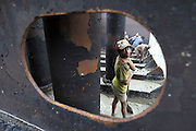 Child labor is a common practice on the Bangladeshi shipbreaking yards. Some are removing mud, others are assisting the gas cutters, some can be gas cutters themselves. Young Power and Social Action (YPSA), a local NGO, was conducting a survey in 2003 and was stating that more than 10% of the workers there are less than 18 years old (and 40% are in between 18 and 22).