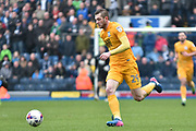 Preston North End Forward Tom Barkhuizen (29)  during the EFL Sky Bet Championship match between Blackburn Rovers and Preston North End at Ewood Park, Blackburn, England on 18 March 2017. Photo by Mark Pollitt.