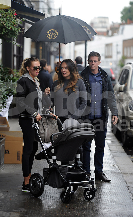 Tamara Ecclestone and sister Petra Ecclestone arriving at Sealini restaurant in London UK. 22/10/2013<br />
