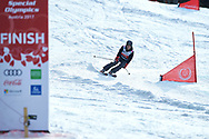 """Schladming, Austria - 2017 March 21: Timothy Perry Shriver (Chairman of Special Olympics) competes in the Snowboarding Unified Sports Experience during Alpine Skiing Competition while Special Olympics World Winter Games Austria 2017 on the """"Sepp-Walcher-Downhill"""" (Slope 32) near the """"Tauernalm"""" in Rohrmoos on March 21, 2017 in Schladming, Austria.<br /> <br /> Mandatory credit:<br /> Photo by © Adam Nurkiewicz / Mediasport<br /> <br /> Adam Nurkiewicz declares that he has no rights to the image of people at the photographs of his authorship.<br /> <br /> Picture also available in RAW (NEF) or TIFF format on special request.<br /> <br /> Any editorial, commercial or promotional use requires written permission from the author of image.<br /> <br /> Image can be used in the press when the method of use and the signature does not hurt people on the picture."""