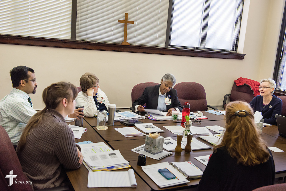 Chaplains engage in ongoing education at Lutheran Senior Services, Laclede Groves, in Webster Groves, Mo.,  on Tuesday, Jan. 20, 2015. LCMS Communications/Erik M. Lunsford