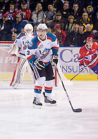 KELOWNA, CANADA, DECEMBER 27: Kevin Smith #3 of the Kelowna Rockets skates on the ice against the Spokane Chiefs at the Kelowna Rockets on December 7, 2011 at Prospera Place in Kelowna, British Columbia, Canada (Photo by Marissa Baecker/Getty Images) *** Local Caption ***