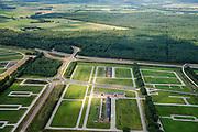 Nederland, Drenthe, Emmen, 27-08-2013; <br /> Lege kavels.<br /> Empty lots.<br /> luchtfoto (toeslag op standaard tarieven);<br /> aerial photo (additional fee required);<br /> copyright foto/photo Siebe Swart.<br /> <br /> QQQ