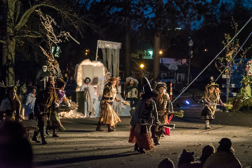 The Halloween Spectacle in downtown Marquette, Michigan.