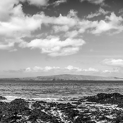 Maui Secret Cove Paako Beach Kihei Hawaii black and white photo. In the background is Kaho'olawe Island Reserve along Ahihi Bay in the Pacific Ocean. Copyright ⓒ 2019 Paul Velgos with All Rights Reserved.