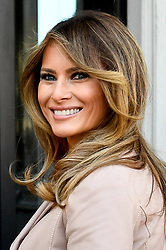 May 25, 2017 - Brussels, BELGIUM - Belgium , Brussels , May 25th 2017 - Visit of the First Ladies to the Magritte Museumduring the NATO ( North Atlantic Treaty Organization ) summit - First Lady of the US Melania Trump                                           © Eric Lalmand / POOL / Reporters..Reporters / GYS (Credit Image: © Reporters via ZUMA Press)