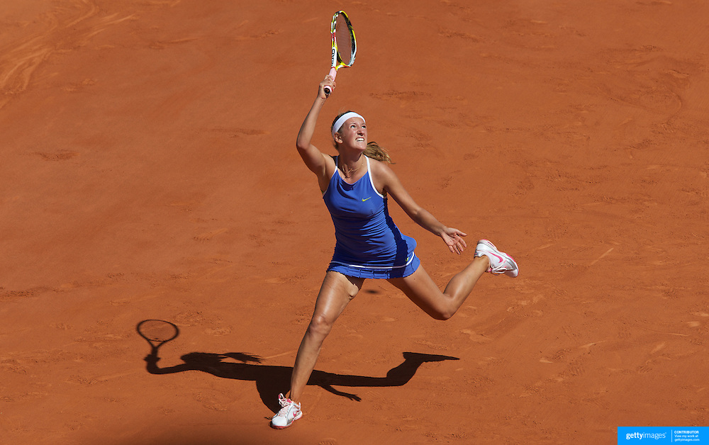 Victoria Azarenka, Belarus, in action against Dinara Safin, Russia, in the Women's Quarter Final match at the French Open Tennis Tournament at Roland Garros, Paris, France on Tuesday, June 2, 2009. Photo Tim Clayton.