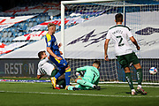 AFC Wimbledon striker Joe Pigott (39) GOAL 1-1 during the EFL Sky Bet League 1 match between AFC Wimbledon and Plymouth Argyle at the Kiyan Prince Foundation Stadium, London, England on 19 September 2020.
