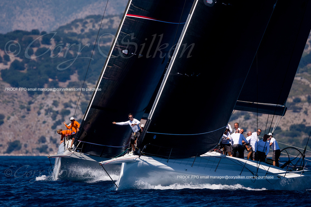 Cannonball and Momo sailing in the  Corfu Challenge, day one.