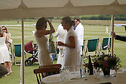 THE COUNTESS OF WOOLTON AND CHAR PILCHER, Guy Leymarie and Tara Getty host The De Beers Cricket Match. The Lashings Team versus the Old English team. Wormsley. ONE TIME USE ONLY - DO NOT ARCHIVE  © Copyright Photograph by Dafydd Jones 66 Stockwell Park Rd. London SW9 0DA Tel 020 7733 0108 www.dafjones.com