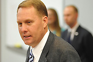 University of Mississippi football coach Hugh Freeze discusses the school's new signees at a press conference in Oxford, Miss. on Wednesday, February 6, 2012. (AP Photo/Oxford Eagle, Bruce Newman)