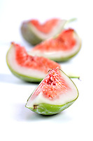 Figs on white background - studio shot