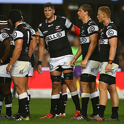 DURBAN, SOUTH AFRICA - AUGUST 27: Ruan Botha of the Cell C Sharks during the Currie Cup match between Cell C Sharks XV and Vodacom Blue Bulls at Growthpoint Kings Park on August  27, 2016 in Durban, South Africa. (Photo by Steve Haag/Gallo Images)