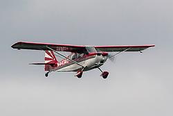 American Champion Citabria 7GCAA (registration N443AC) landing at Palo Alto Airport (KPAO), Palo Alto, California, United States of America