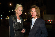 LADY SOPHIE HESKETH AND EDWARD TANG, Exhibition of work by Marc Newson at the Gagosian Gallery, Davies st. London. afterwards at Mr. Chow, Knightsbridge. 5 March 2008.  *** Local Caption *** -DO NOT ARCHIVE-© Copyright Photograph by Dafydd Jones. 248 Clapham Rd. London SW9 0PZ. Tel 0207 820 0771. www.dafjones.com.