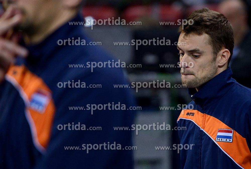 Dick Kooy #11 during volleyball match between National teams of Netherlands and Slovenia in Playoff of 2015 CEV Volleyball European Championship - Men, on October 13, 2015 in Arena Armeec, Sofia, Bulgaria. Photo by Ronald Hoogendoorn / Sportida