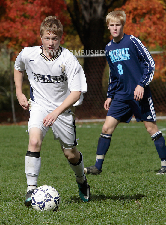 Beacon, New York - John Jay East Fishkill plays Beacon in a high school boys' soccer game on Oct. 16, 2010.
