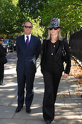 AA GILL and NICOLA FORMBY at the memorial service of Isabella Blow held at the Guards Chapel, London W1 on 18th September 2007.<br />