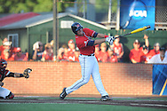 Mississippi's Colby Bortles (25) bats against Louisiana-Lafayette in an NCAA Super Regional game in Lafayette, La. on Saturday, June 7, 2014.    Louisiana-Lafayette won 9-5.
