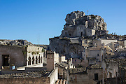 View of Sassi di Matera with S. Maria de Idris Church.