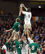 Photo © SPORTZPICS / SECONDS LEFT IMAGES 2010 /Colm O'Neill - South Africa's Victor Matfield (R) wins a lineout ahead of Mick O'Driscoll of Ireland - Ireland v South Africa - Guinness Series 2010 - Aviva Stadium - Dublin - Ireland - 06/11/10 - All rights reserved