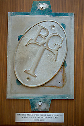Blue Grass Trust for Historic Preservation found the original mold for their plaques and has it on display in the recently purchased the Thomas Hunt Morgan house that will serve as a rental space and a new headquarters, Friday, Feb. 05, 2016 at the Thomas Hunt Morgan House in Lexington.