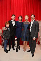 Left to right, SONNY JONES, RICHARD JONES, SOPHIE ELLIS-BEXTOR, BRENDAN COLE and his wife ZOE at a pre party for the English National Ballet's Christmas performance of The Nutcracker was held at the St.Martin's Lane Hotel, St.Martin's Lane, London on 12th December 2013.