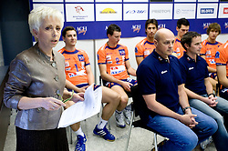 Ivanka Mihelcic at press conference of volleyball club ACH Volley before new season 2009/2010,  on September 28, 2009, in Ljubljana, Slovenia.  (Photo by Vid Ponikvar / Sportida)