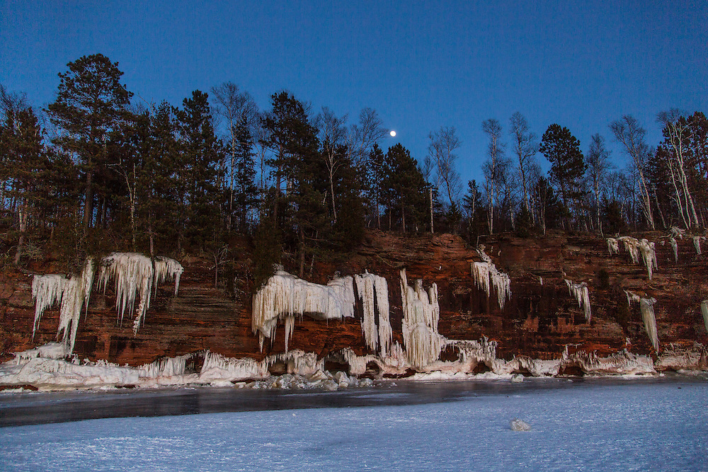 Apostle Island National Lake Shore ice caves.