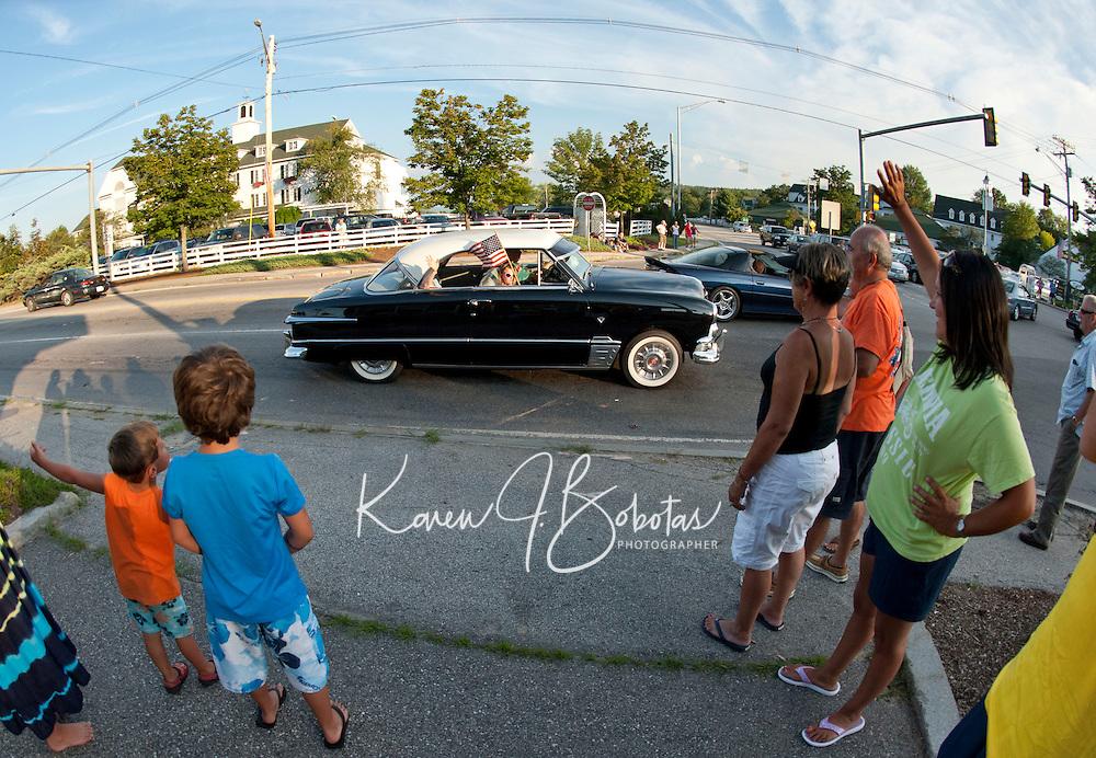 Cruise Night Parade through Meredith, NH  August 20, 2011.