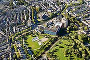 Nederland, Utrecht, Gemeente Utrecht, 30-09-2015; Tuinwijk-Oost, Griftpark, parkeergarage De Grifthoek. Wittevrouwensingel met Wolvenplein, gevangenis aan het Wolvenplein op het vroegere bolwerk Wolvenburg. Penitentiaire Inrichting (PI) voor veelplegers en verslaafden. Stadsgevangenis of Huis van Bewaring Wolvenplein.<br /> Prison on the former stronghold Wolves Burg. Penitentiary Institution (PI) for persistent offenders and addicts. City Jail<br /> <br /> luchtfoto (toeslag op standard tarieven);<br /> aerial photo (additional fee required);<br /> copyright foto/photo Siebe Swart